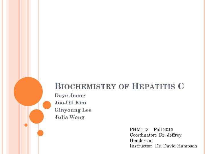 biochemistry of hepatitis c n.