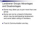 landowner groups advantages and disadvantages2