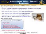 unitized group ration express documents