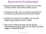 barometrisk prislederskab