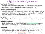 oligopol modeller resum