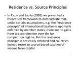 residence vs source principles