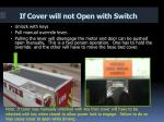 if cover will not open with switch