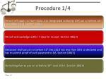 procedure 1 4