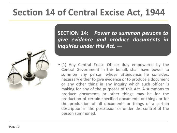 Section 14 of Central Excise Act, 1944