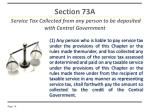 section 73a service tax collected from any person to be deposited with central government