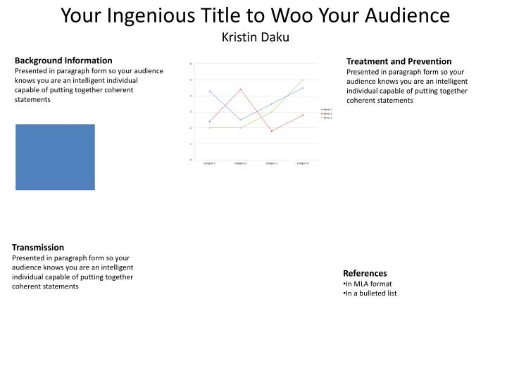 Your ingenious title to woo your audience kristin daku
