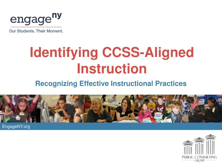 identifying ccss aligned instruction n.