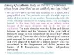 essay question italy on the eve of 1860 has often been described as an unlikely nation why