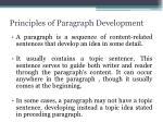 principles of paragraph development