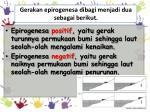 gerakan epirogenesa dibagi menjadi dua sebagai berikut
