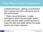 four ways to gain compliance2