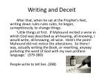 writing and deceit