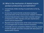 20 what is the mechanism of skeletal muscle paralysis produced by succinylcholine