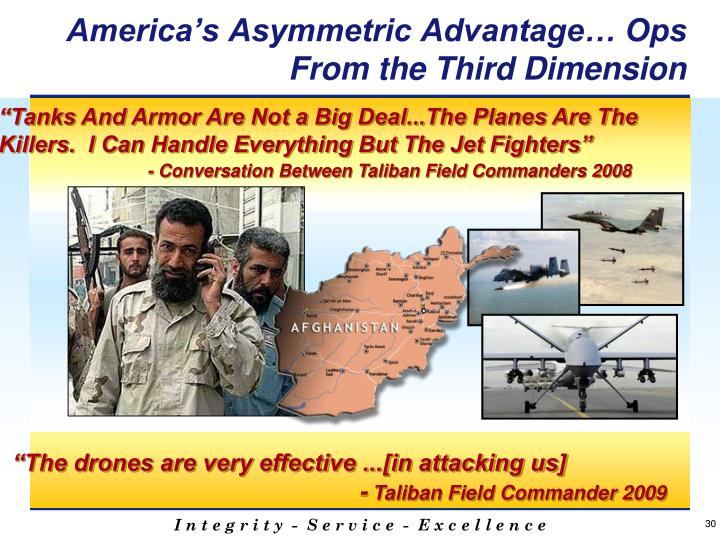America's Asymmetric Advantage… Ops From the Third Dimension