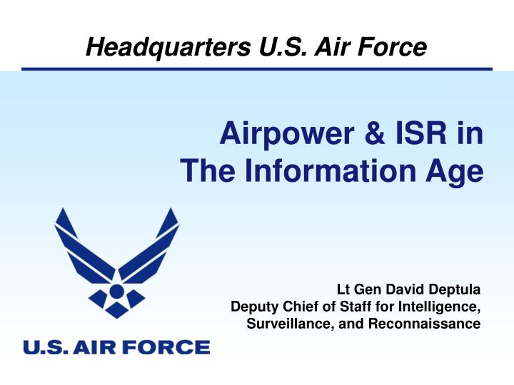 Airpower & ISR in