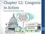 chapter 12 congress in action honors classes november 4 2013