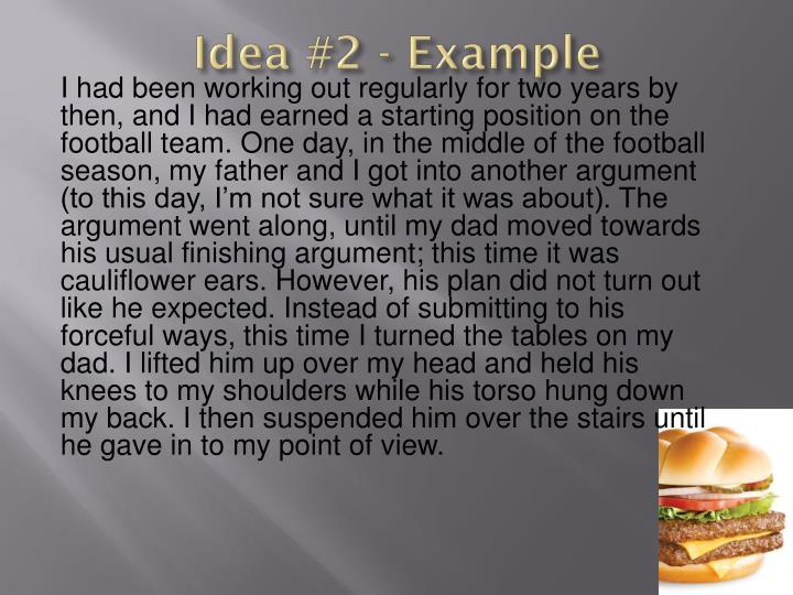 Idea #2 - Example