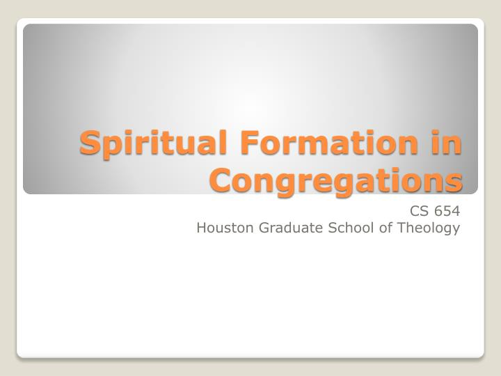 spiritual formation in congregations n.