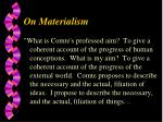 on materialism1