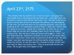 april 23 rd 2175