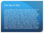 the day of war