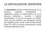 la virtualisation d finition