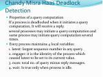 chandy misra haas deadlock detection