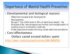 importance of mental health p revention