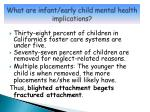 what are infant early child mental health implications