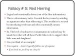 fallacy 5 red herring