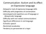 communication autism and its effect on expressive language