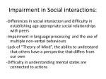 impairment in social interactions