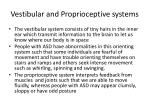 vestibular and proprioceptive systems