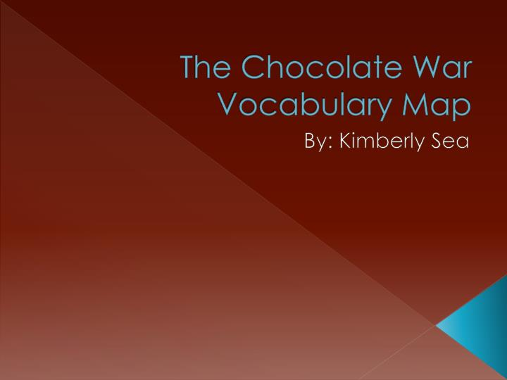 the chocolate war vocabulary map n.