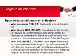 el registro de windows6