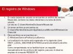 el registro de windows9