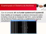 examinando el sistema de archivos