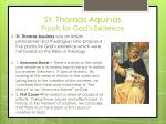 st thomas aquinas proofs for god s existence