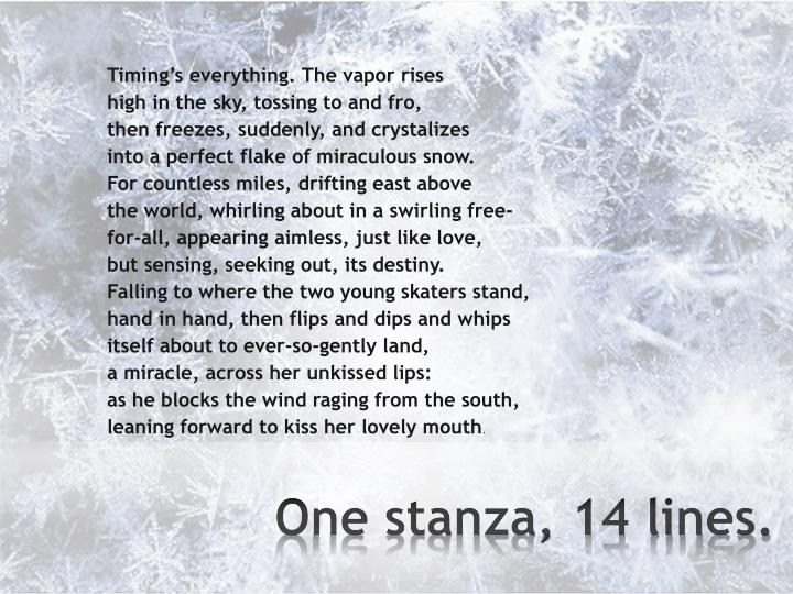 One stanza 14 lines