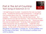 part 4 the art of courtship text song of solomon 3 1 5