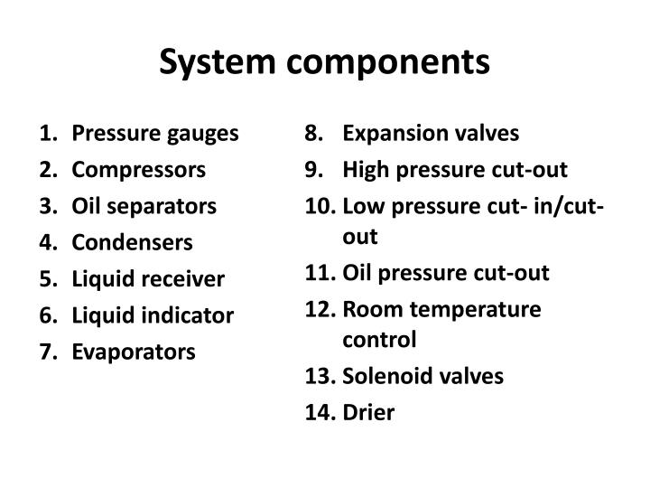 system components n.