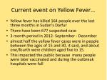 current event on yellow fever