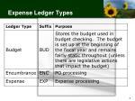 expense ledger types