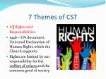 7 themes of cst