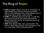 the ring of power