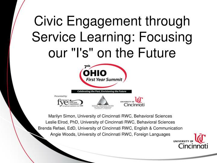 civic engagement through service learning focusing our i s on the future n.
