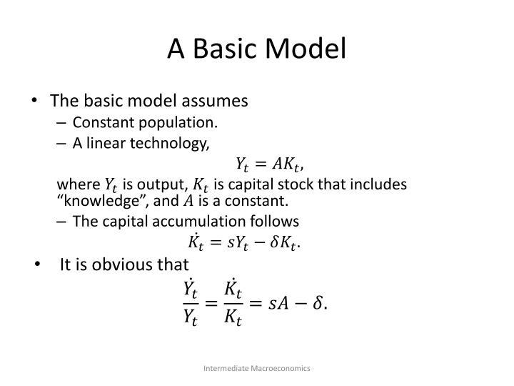 A Basic Model