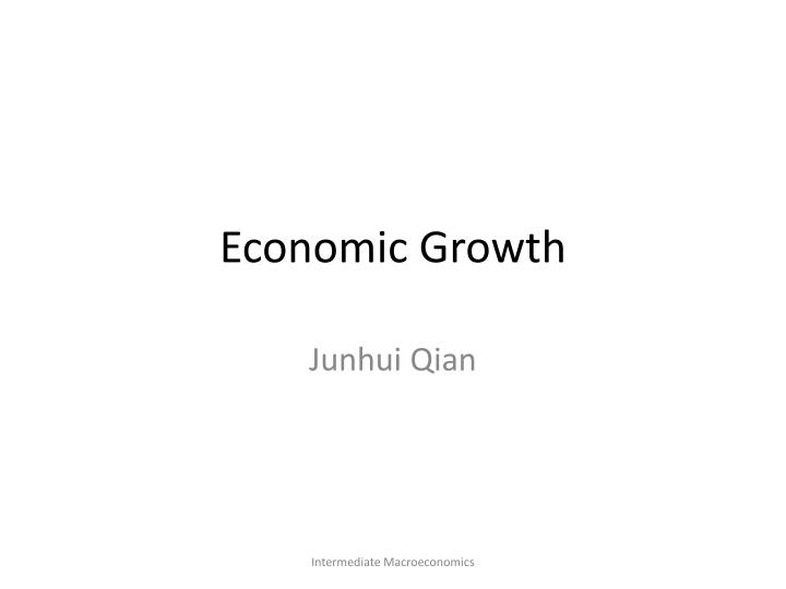 economic growth n.