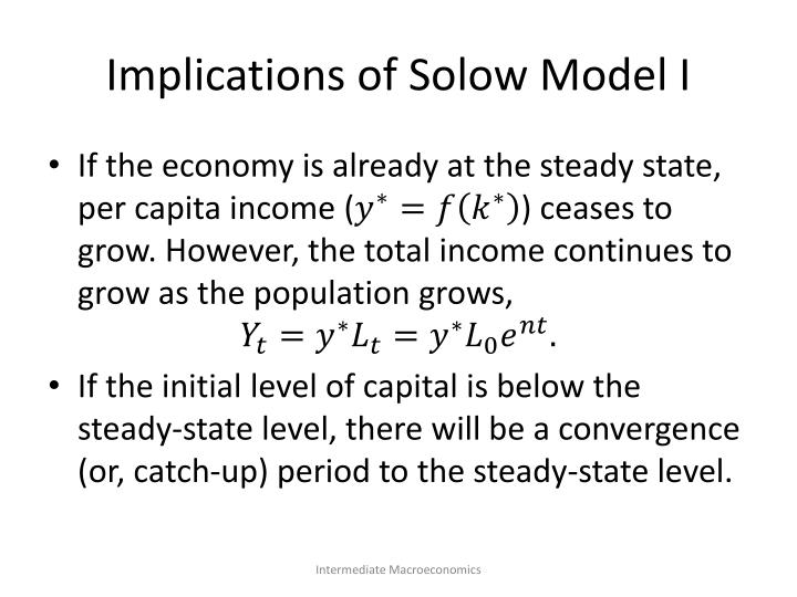 Implications of Solow Model I